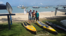 Training with Alex Araújo and Chico Ferreira