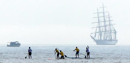 In mid-race, Rei e Rainha do Mar, December 2017