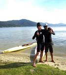 With Marcelo Batata, Lago da Conceição