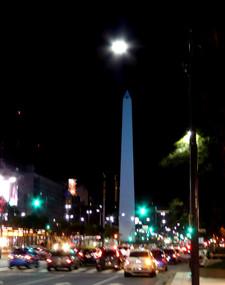 Obelisco de Buenos Aires at night
