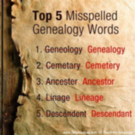 5 Misspelled Words of Genealogy.jpg