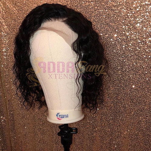 12 inch frontal deep wave wig
