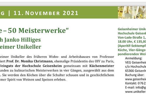 """Ticket  """"50 Köche – 50 Meisterwerke"""" - 35. Glorreiche Rheingau Tage"""