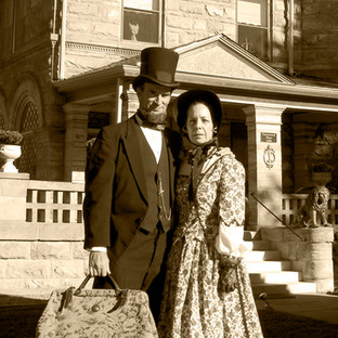 """""""President Lincoln and First Lady Mary Todd"""""""