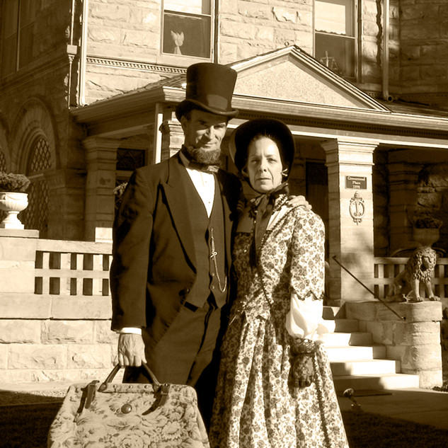 """President Lincoln and First Lady Mary Todd"""