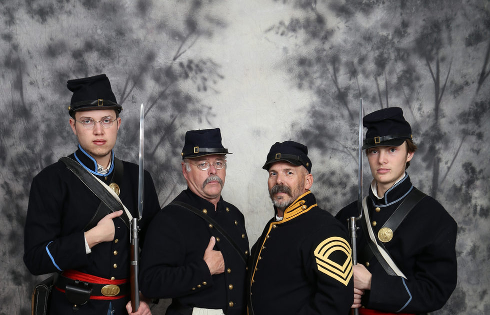 """Civil War Union Soldiers"" - Conner Cheadle, Daniel Michael, Rick Ketchem & Cody Cheadle"