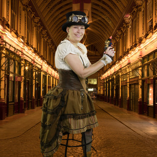 Renea Wright In Steampunk outfit