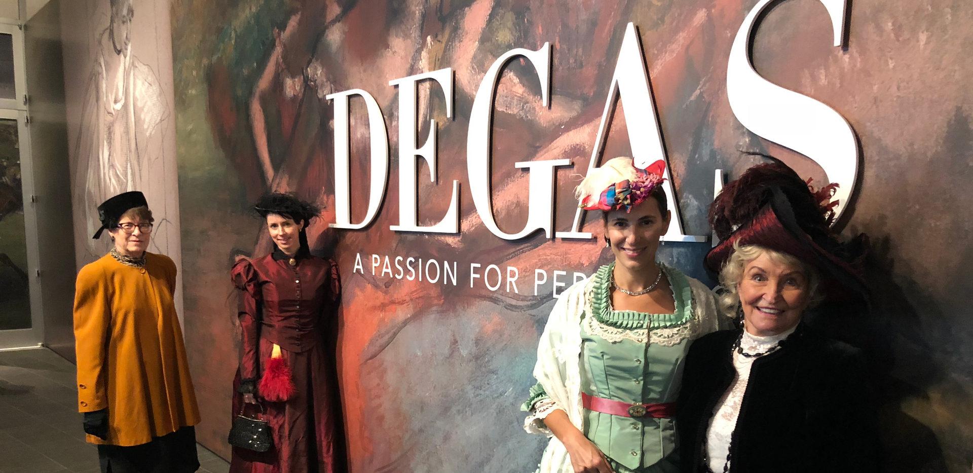 Degas Exhibit at the Denver Art Museum - Barbara Trick from Central City, Erin Niswender from Ft. Collins, Nico Nagel & Dottie Bakke