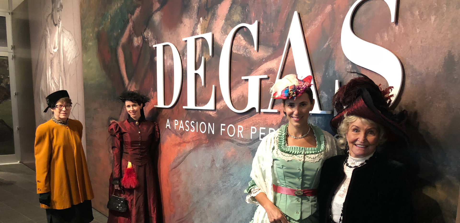 Degas Exhibit at the Denver Art Museum - Barbara Trick from Central City, Erin Niswender from Ft. Collins, Nico Nagel & Dottie Bakke