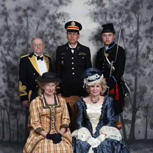 VSC Military Across the Ages Grand Ball - front: Liz Smith and Suze Ketchem, back: John Smith, George Fischer and Connor Cheadle