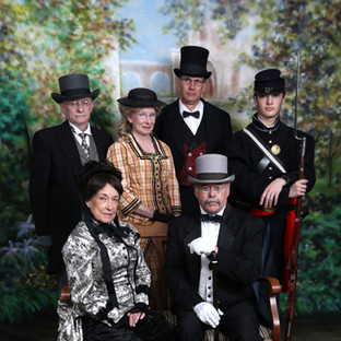 Victorian Society of Colorado Members-front row: Roma Thompson & Daniel Michael. Back row: John and Liz Smith, George Fischer and Cody Cheadle