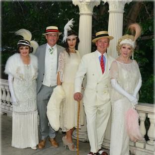 1920s White Party in Denver, CO - Rita Smith, John Gustafson, Nico Nagel, David, Lona Miller