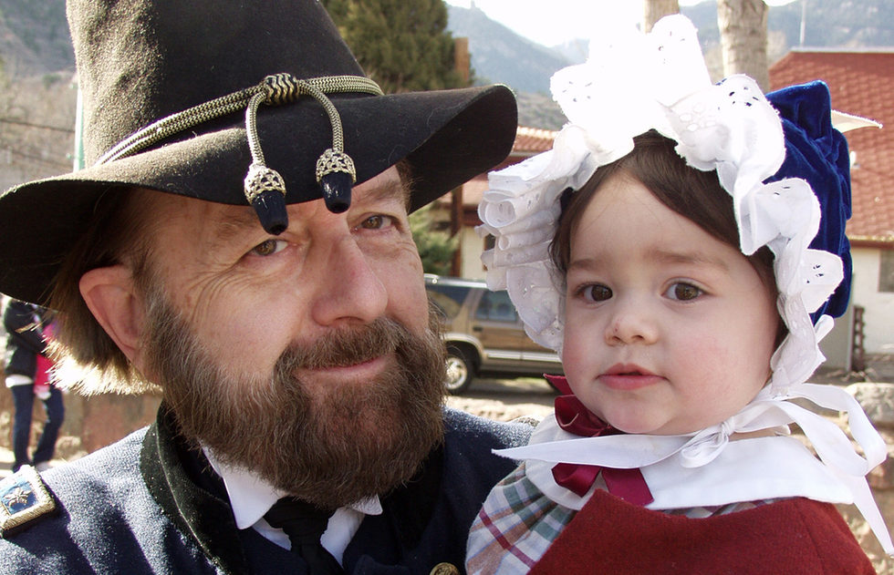 Tom Wilhelm & grandchild - co-founder of the first Victorian club in Colorado Springs
