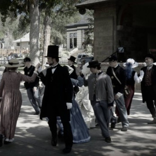 Dancing with John Vohl as President Lincoln