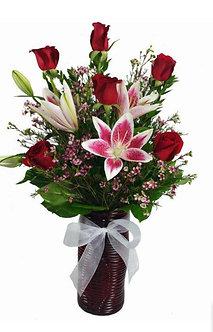 Bouquet rosas y lilium