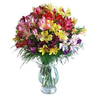 Astromelias con florero