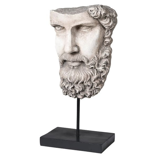 Stone Socrate Head on stand