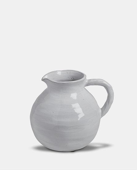 'Bianca' White Ceramic Round Jug