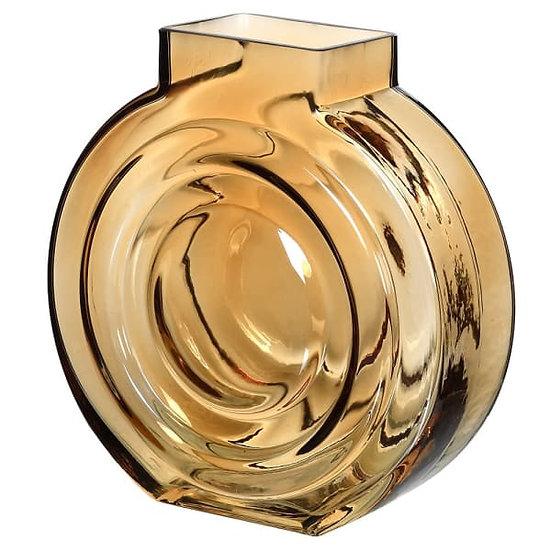 'Flaxon' Round Glass Vase