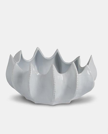 'Triton' White Ceramic Sea Bowl