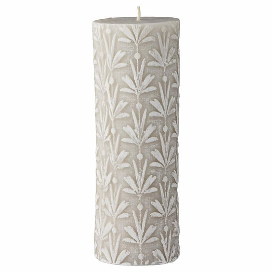 'Lilley' Cashmere Floral Pillar Candle