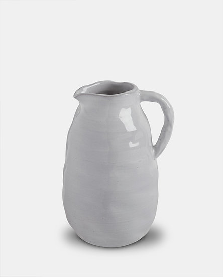 'Bianca' White Ceramic Jug