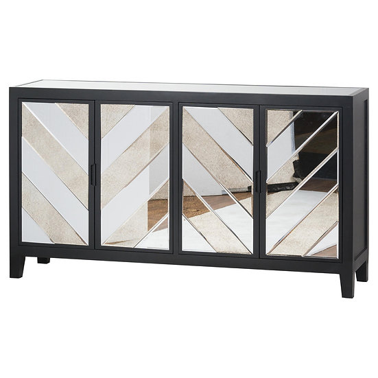 Brooklyn Black 4 Door Sideboard