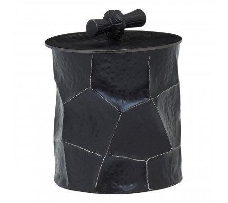 'Oku' Black Hammered Pot