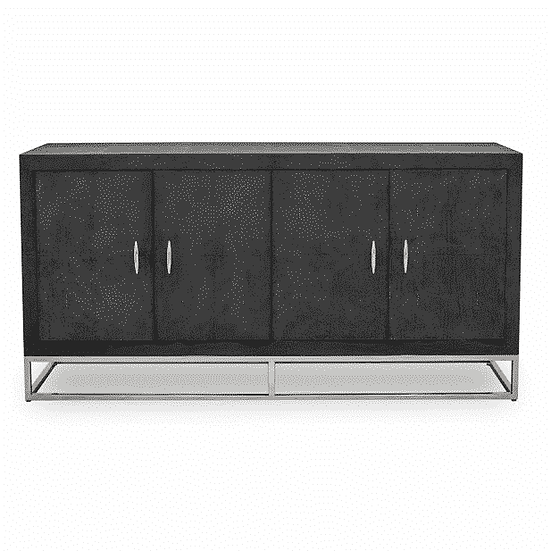 'Lorenzo' Faux Shagreen Four Door Sideboard
