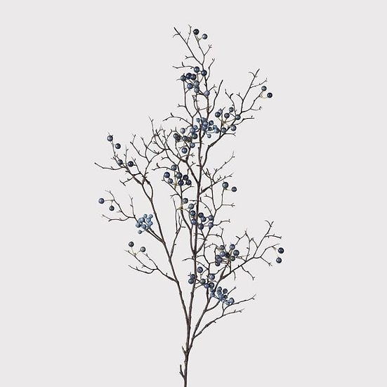 Blue Berries Spray Branch