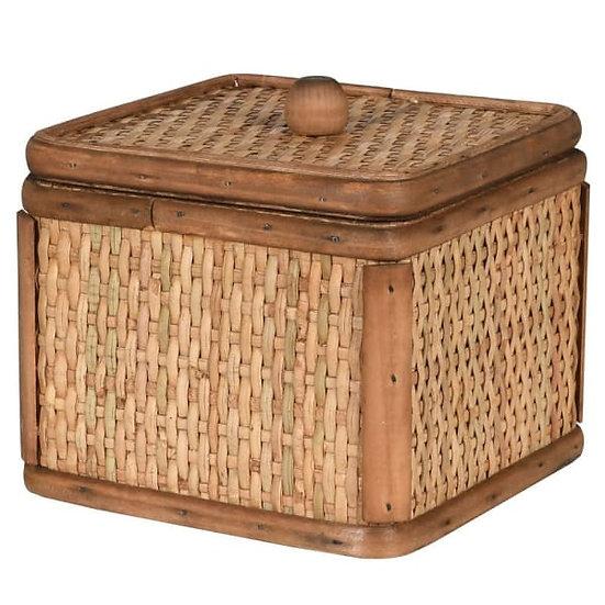 'Kona' Small Woven Square Box