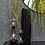 Thumbnail: 'Hilma' Metal Black & Gold Tall Vase