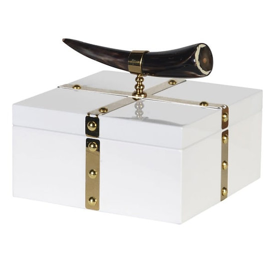 'Gjallarhorn' White & Gold Trinket Box