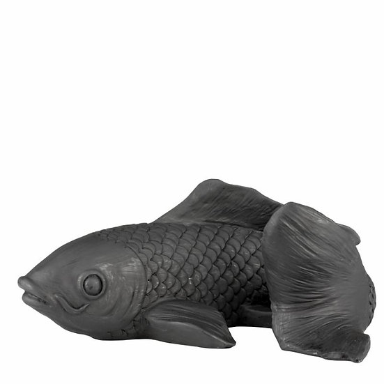 'Koi' Black Stone Decorative Fish