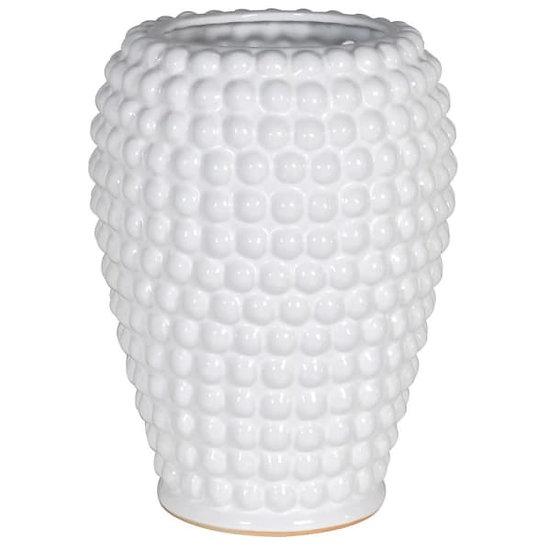 'Bella' White Bobble Vase