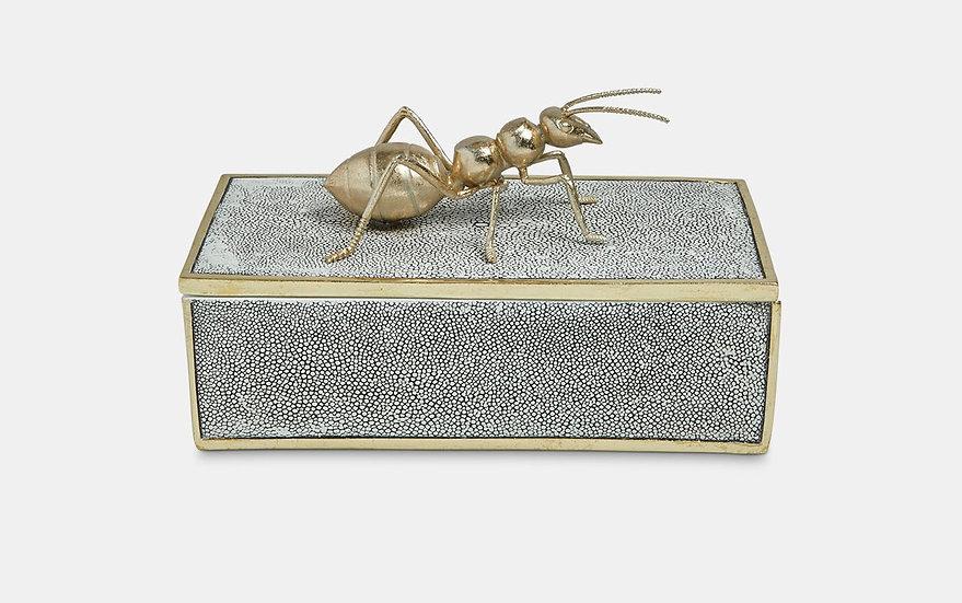 Faux Shagreen Decorative Ant Box