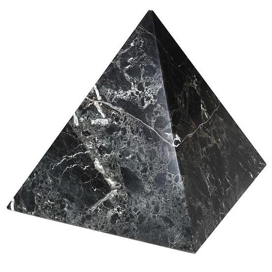 Large Black Marble Pyramid