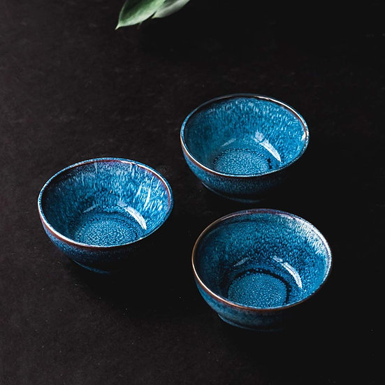 Small Ocean Blue Ceramic Dipping Bowl