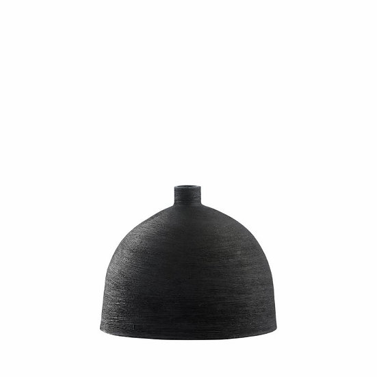 'Alma' Matt Black Vase