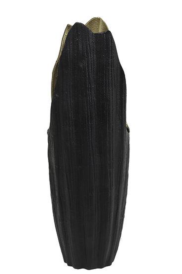 'Hilma' Metal Black & Gold Tall Vase