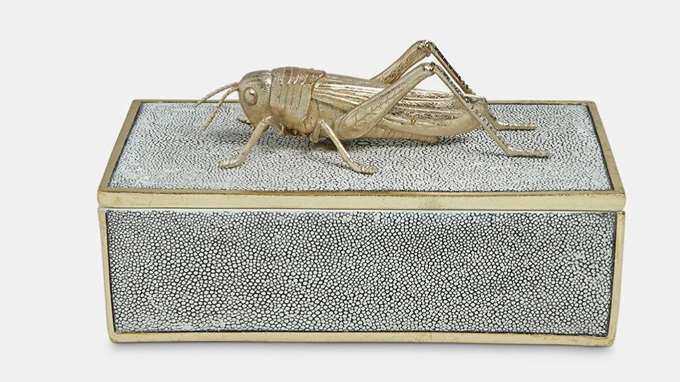 Faux Shagreen Decorative Grasshopper Box