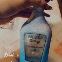 Custom Glitterized ombre Birthday Bottle