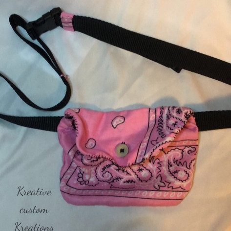 Pretty Pink Bandanna Fanny Pack(S)