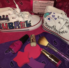 Glitz and Glamour Converse for Aubree