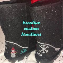 Winter wonderland custom ugg boots