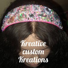 Pretty pink bedazzled headband