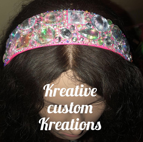 Pretty pink bedazzled headband