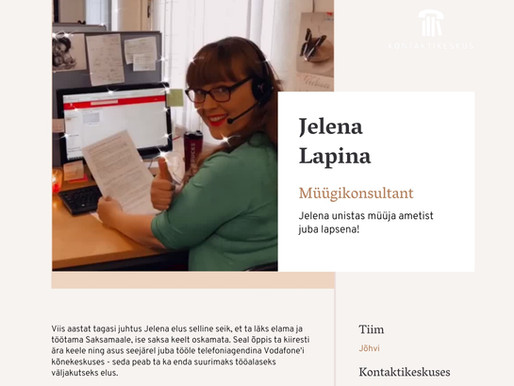 Persoonilugu - Jelena