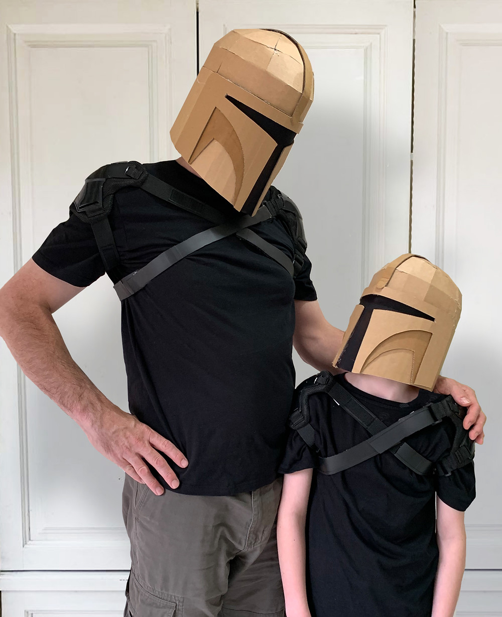 Make your own cardboard Bounty Hunter Helmet with this downloadable template