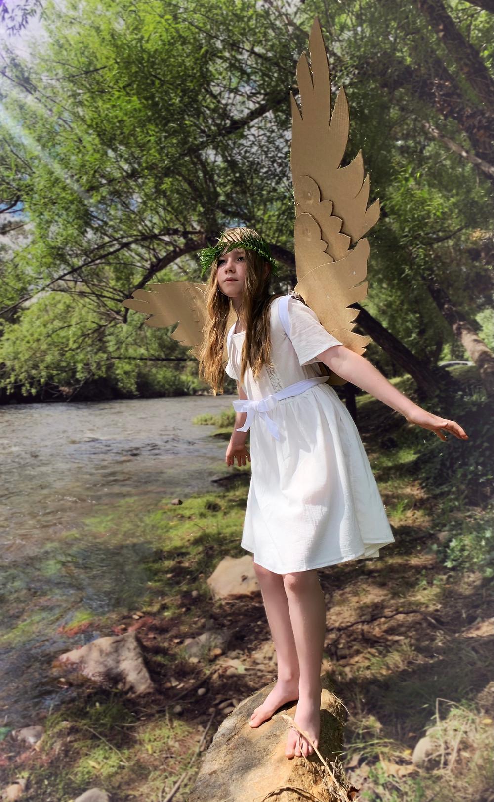 DIY cardboard articulating fairy or angel wings